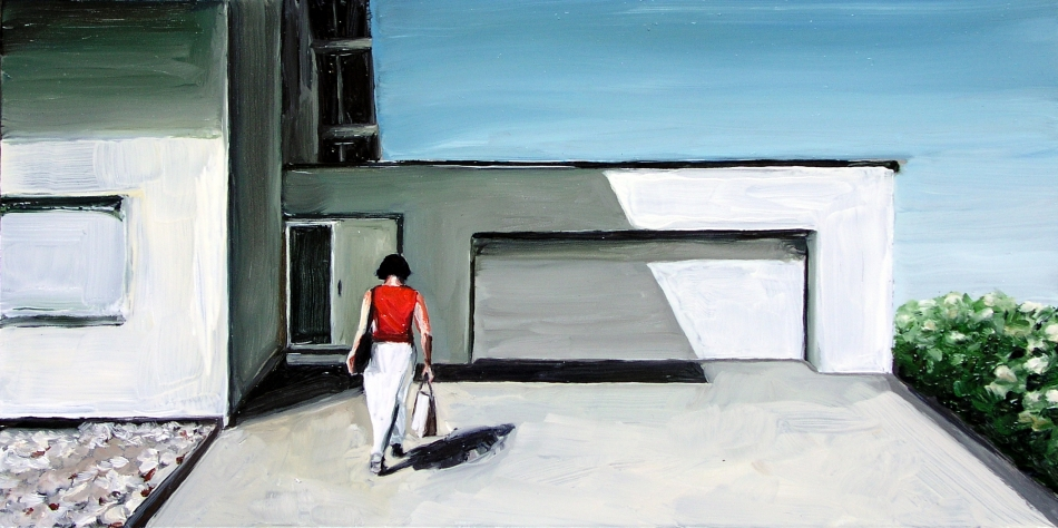 Neighbourhood #10, 2005<br /> Oil on steel<br /> 15 x 30 cm